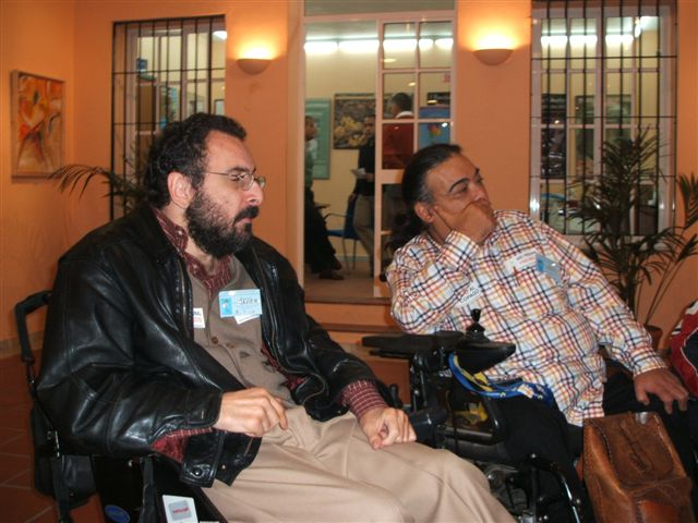 Javier Romañach (izq,) y Manuel Lobato.