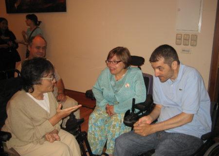 Marita Iglesias, Judith Heumann y José Antonio Nóvoa